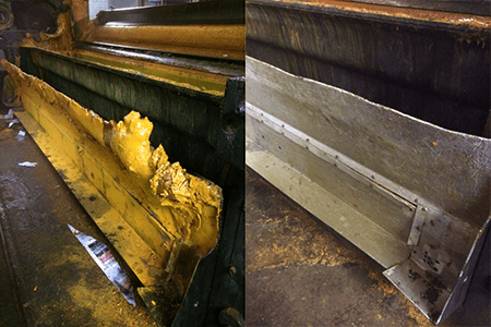 dry ice blasting before and after