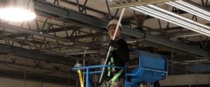 high ceiling cleaning