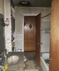 fire destroyed bathroom